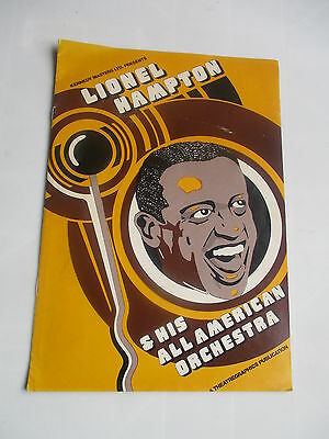 c 1968 1969 LIONEL HAMPTON ALL AMERICAN ORCHESTRA CONCERT PROGRAMME JAZZ