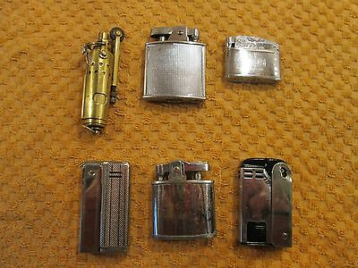 Selection Of Six Vintage Petrol Lighters