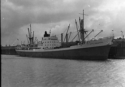 Cargo Ship City of Singapore Shipping Photo Negative N020