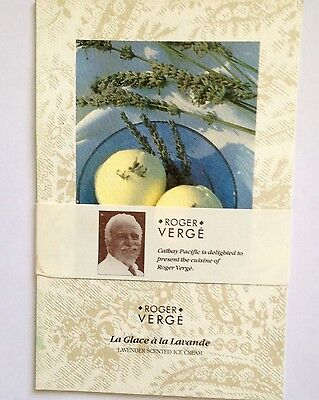 Vintage Cathay Pacific Airline Ephemera 1986 Recipes Roger Verge Menu Promotion