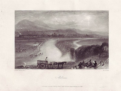 Original antique engraving ~ Melrose ~ after a watercolour by JMW Turner, 1833