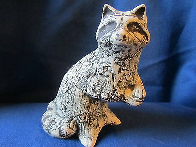 Raccoon...shapes Of Clay...mt St Helens Volcano Ash...artist Signed...unique!!