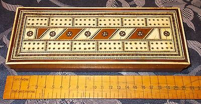 Antique Vizagapatam  Indian Cribbage / Games  Box