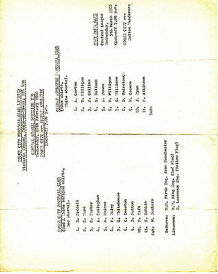 Stoke City Reserves v Oldham Athletic Reserves 1985/6 (26 Feb) Central League