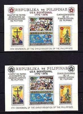 a99 - PHILIPPINES - SGMS1413 MNH 1976 BICENT US REVOLUTION - BLACK & RED OVPT