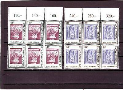 Luxembourg - Sg910-911 Mnh 1973 Romanesque Architecture - Blocks Of 6