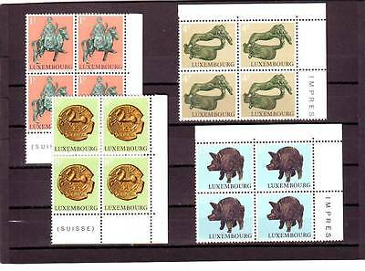 Luxembourg - Sg902-905 Mnh 1973 Archaeological Relics - Blocks Of 4