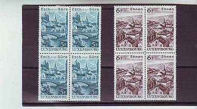Luxembourg - Sg987-988 Mnh 1977 Tourism - Buildings - Blocks Of 4