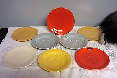 Vintage Fiestaware Lot of 8 Bread & Butter Plates & saucers
