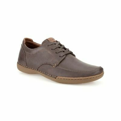 Clarks RUTLAND APRON Mens Casual Brown Lace Up Shoes - Size 11