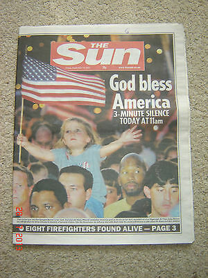 The Sun newspaper Original 14th September 2001 (twin towers)