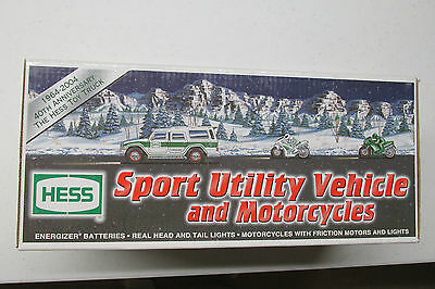 2004 Hess Sport Utility Vehicle And Motorcycles Mint In The Original Box