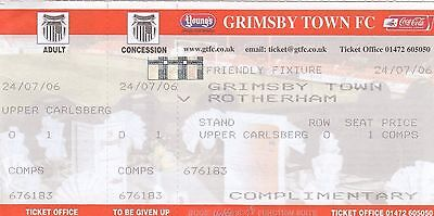 Ticket - Grimsby Town v Rotherham United 24.07.06 Pre-Season Friendly