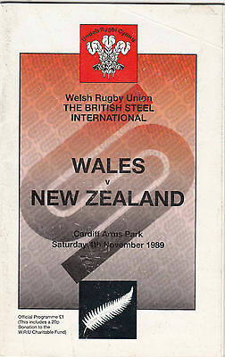 Wales v New Zealand 1989 @ Cardiff Arms Park