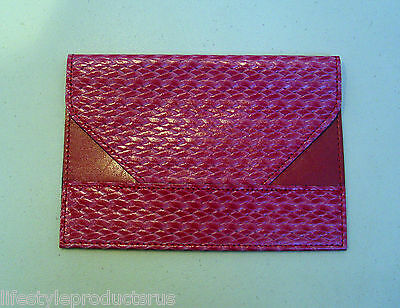 "NEW RAIKA 4""x 6"" PINK LEATHER PHOTO ENVELOPE HOLDER CASE PICTURE BA 109"