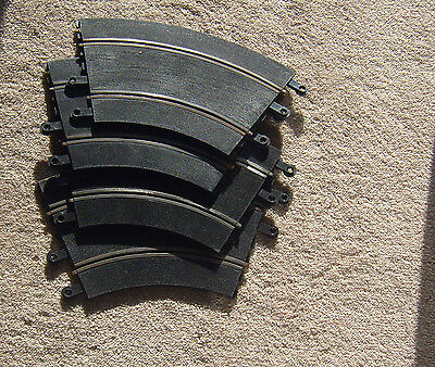 4 x vintage PT/51 Scalextric curved track