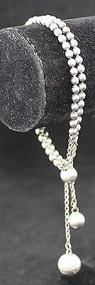 Vintage Ball Chain Adjustable Bracelet-w/French Rope Chain