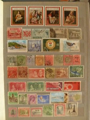British Colonies old stamp collection, including several valuable sets, stamps.