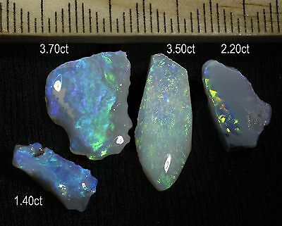 PARCEL OF LIGHTNING RIDGE OPAL PIECES WITH BEAUTIFUL COLOURS! 10.80ct