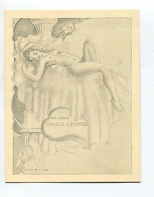 Ex Libris for Howes by Byrne  nude