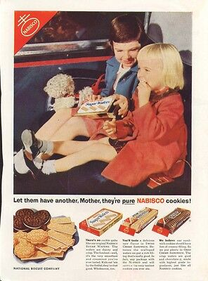 Have another, Mother Nabisco Oreo Sugar Wafers ad 1954