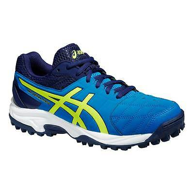 Asics Gel-Lethal Field 2 GS Junior Hockey Shoes Black/Flash Yellow/Electric Blue