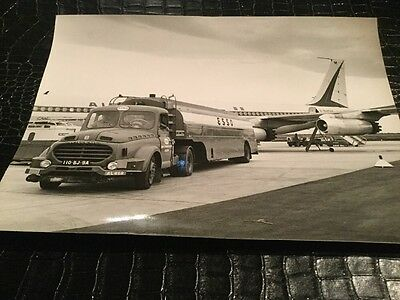 Photo  Air France Photo Aviation Esso CAMION Ravitaillement Alger 24x18