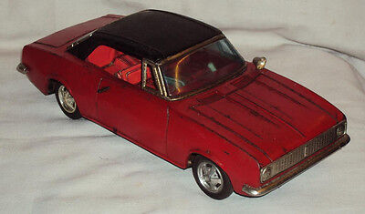 1950s ORIGINAL RARE OLD VINTAGE FRICTION POWERED TINPLATE TOY CAR MADE IN JAPAN