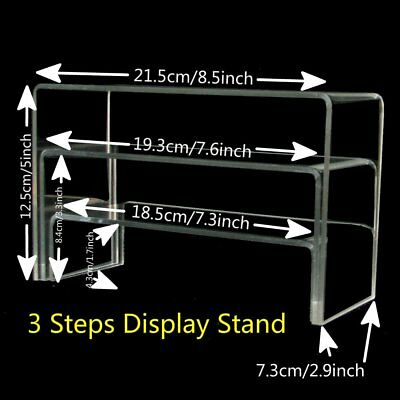 3 in 1 Clear Acrylic Stepwise Risers Bracelet Jewelry Retail Display Holder