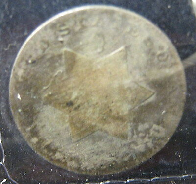 1852  3 Cent Silver - Good   P-2