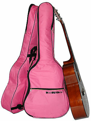 Pink Coloured Guitar Case Gig Bag for Acoustic and Classical Guitars
