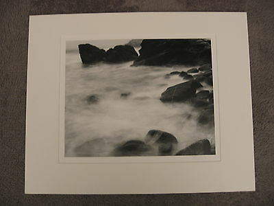 """Ryuijie 1995 """"Black Rock """" 11x14 Signed Silver Gelatin Photograph -- Matted"""