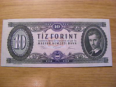 A 1975 Hungaary 10 Forint Banknote -  UNC  very crisp