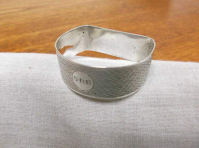 "A Vintage   Sterling Silver "" D Style""  Napkin Ring     Chester 1928"