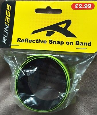 New Reflective Running Cycling Fitness Snap On Hi-Viz Yellow Band. Sealed Pack.