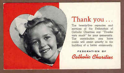 FEDERATION OF CATHOLIC CHARITIES: Scarce Antique Ink Blotter (1940)