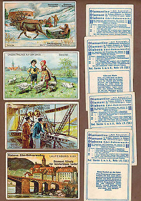 TYPE CARDS: Collection of Rare Victorian DIAMANTINE Trade Cards (1900)D