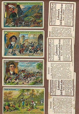 TYPE CARDS: Collection of Rare Victorian LAHUSEN'S JODELLA Trade Cards (1900)