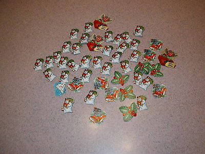 Over 100 Vintage Christmas Holiday Stickers Decals Snowman Holly Angel Scrapbook
