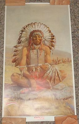 "BR2018 WINCHESTER Ferrara 1976 Poster Sioux approx.12""x21"" NOS shipped rolled"