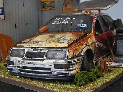 """1/18 Ford Sierra Rs Cosworth Barn Find Diorama Code 3  """"andrew Green"""" 3 Door"""