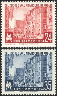 Germany 1954 Leipzig Fair/Buildings/Architecture/Business/Commerce 2v set n44583