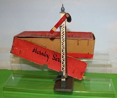 Hornby Series O Gauge Signal Boxed Good Condition 1920,s