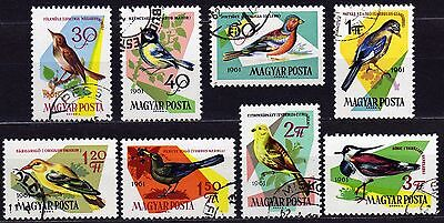Hungary #1426-1433 Used Complet Set Of Birds