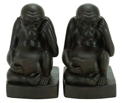 Cole & Grey Monkey Book Ends Set of 2