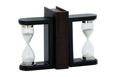 Cole & Grey Timer Book Ends Set of 2