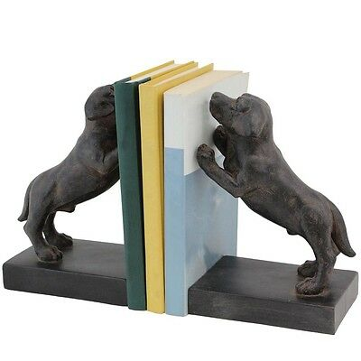 Selectives Stay Dog Pair Bookends Set of 2