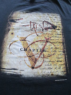 Staind Chapter 5 V Tour 2005 Black Brown T Shirt Size XL X-Large