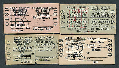 BB333d Great Southern 4 tickets Ballinamore Claremorris Mohill Limerick