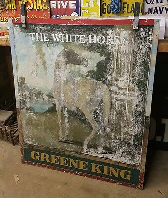 Large vintage double sided pub sign antique rare collectable mancave advertising